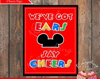 Mickey Mouse We've Got Ears Say Cheers Sign