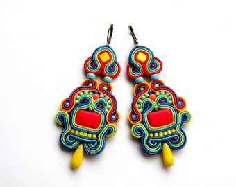Earrings-soutache-boho-dangle Bahamas