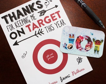 Target Thank You Card - Gift Card Holder