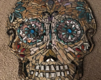 "18"" X 16"" Sugar Skull Wall Hanging"