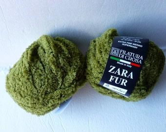 Yarn Sale  - Olive 1  Zara Fur by  Filatura Di Crosa Yarn