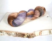 Late Autumn- Hand Dyed Yarn, Fingering Weight, Acid Dyed 75/25 Superwash Blue Faced Leicester Wool Nylon Blend