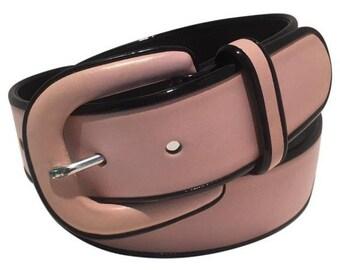 Vintage Lauren by Ralph Lauren Italian Leather Pink Belt M