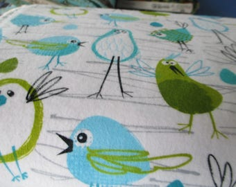 Quilting Weight Cotton Flannel Robin in the Hood designed by Michael Miller 1 yard