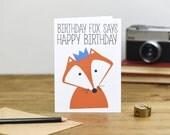 Birthday Fox Birthday Card