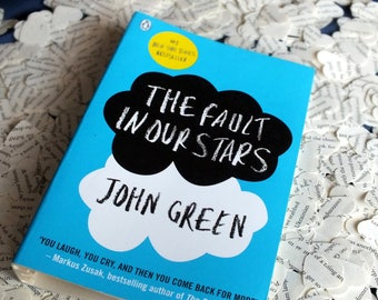 250 The Fault In Our Stars - TFioS - by John Green Heart Confetti - Hand Punched Wedding Confetti, Table Decor, Rustic, Paper Decorations