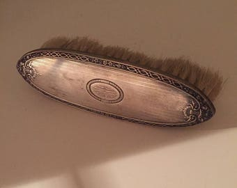 Victorian Sterling Silver Clothes Brush Monogrammed M N G