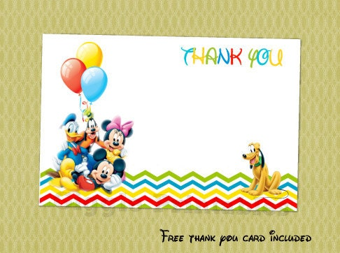 Mickey Mouse Clubhouse Invitation Mickey Mouse Birthday