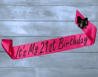 21st Birthday Sash - Birthday Sash - 21st Birthday - 21st Party Sash - Personalized Sash - Birthday Gift - Party Sash