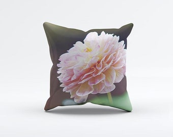 Peony Flower Pillow Cover 15 x 15 inch, Floral cushion cover, Decorative Pillow Cover, Home decor