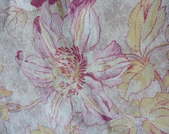French  Vintage, French Antique Fabric , Old French Flowers, French Antique Textiles,  Antique  Fabric, Napoleon III , Boudoir ,Romantic.