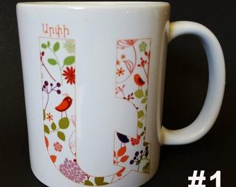 "Armenian Alphabet Coffee Mug, Armenian Letter ""A"", Armenian names"
