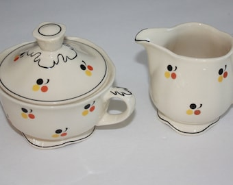 Very rare Arabia Finland creamer and sugar bowl set