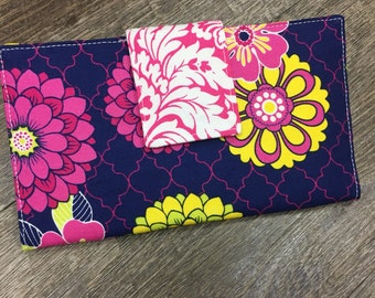 NEW Blue Floral Bi-fold Wallet Christmas Gifts for Her
