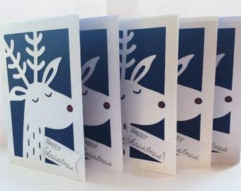 Christmas Card Pack, Christmas Fun Card, Reindeer Christmas Cards, For Friends & Family, Neighbour Christmas Cards, General Christmas Cards