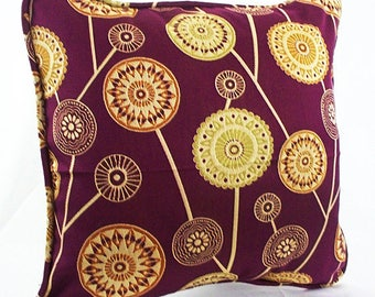 Burgundy Throw Pillow, Burgundy Pillows, Burgundy And Gold Throw Pillows  Decorative Covers Couch Pillows