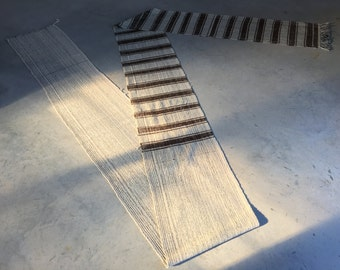 Long Cotton Offset Stripe Runner 1.75' x 27'
