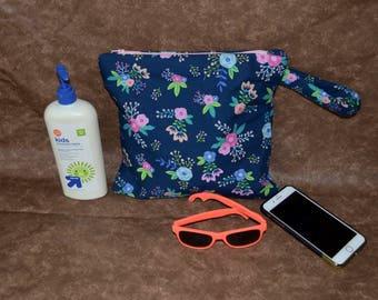 Floral Wet Bag-Waterproof Swim Bag- Echo Friendly Bag