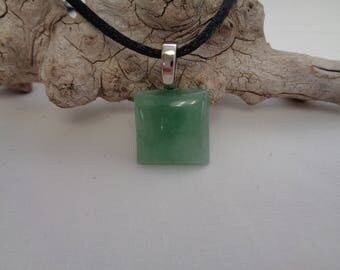 Green Moss Agate Pendant Necklace