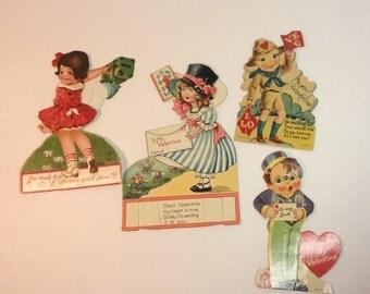 Vintage Antique Valentine's Day Motion Card Lot of 4