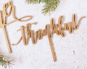 Pie Topper Thanksgiving, Thanksgiving Cake Topper, Thankful Cake Topper, Thanksgiving Decor, Thanksgiving Pie Topper, Gold Topper