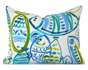 Outdoor Lumbar Pillow Cover Decorative Pillows Blue Pillow Richloom Outdoor Cast Ocean