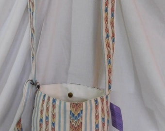 Lizzard Scales n Stripes Shoulder/Crossbody Carry Purse/bags (Native Print) Magnetic snaps, adjustable D-rings, lined Pockets