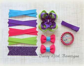 Hair Bow Making Kit-Make Your Own Bow-DIY Hair Bow-Hair Bow Craft Supplies-Make a Micro Mini Bow-Twisted Boutique Bow Supplies-Bow Maker..