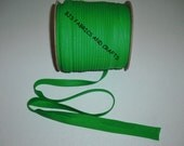 "12 Yards EXTRA WIDE 1/2"" Double Fold Kelly Green Bias Tape"