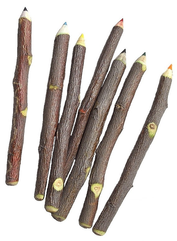 Apple Pencil - The Original Bundle of 7 Mixed Color Twig Pencils Made in USA