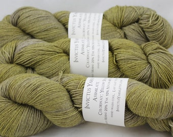 Yellow Splash Assimilate 70/20/10 Merino/Yak/Nylon fingering weight sock yarn