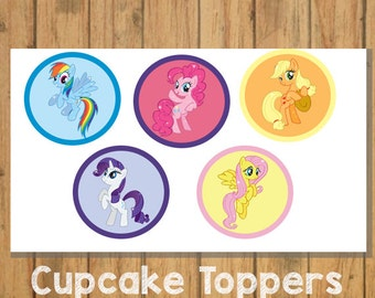 DIY My Little Pony Cupcake Toppers