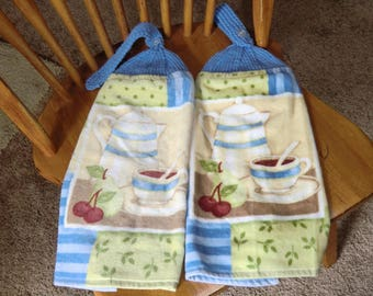 Coffee & Fruit Knit Top Kitchen Towels