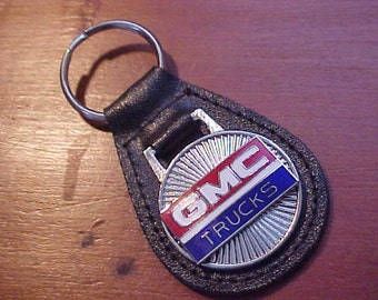 1960s 1970s 1980s GMC TRUCKS Old School Logo Star Collector Leather Key Fob Custom Handcrafted in USA Fine Classic Old Time Truck Swag
