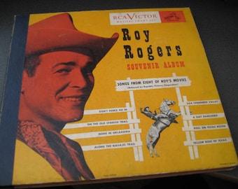 Vintage Roy Rogers Souvenir Four Vinyl Record Album