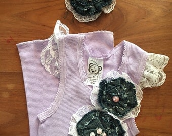 Baby singlet and hairclip set