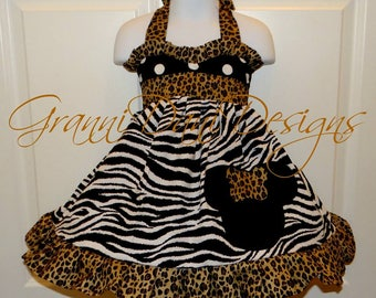 Dinsey minnie mouse  halter twirl dress short sleeve  infant toddler safari black white dot 12 18 24 months 2t 3t 4t 5t 5 7 8