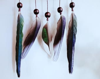 Feather mobile - Native Australian bird feathers  driftwood hanging mobile- Limited edition