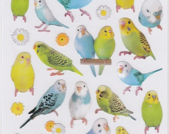 Budgie Budgerigar Parakeet Stickers (10996) Price depends on order volume. Buy other items together for BETTER PRICE.
