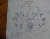 Vintage Stamped Floral Table Runner - FREE SHIPPING