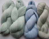Linen Yarn Azure Mint Green Pastel 400 gr (14 oz ), Cobweb / 1 ply, each hank contains approximately 3000 yds