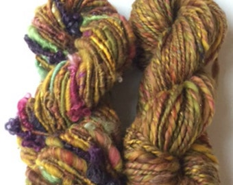 Hand Spun Yarn  Yarn Pack Weaving Pack in Autumn Colours 118yds