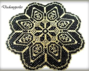 pattern bead weaving doily Cléo