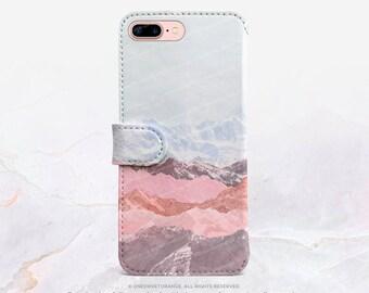 iPhone 7 Wallet Case iPhone 7 Plus Wallet Case Mountains iPhone 7 Folio Case iPhone 7 Plus Folio Case iPhone Faux Leather Wallet Case FC4