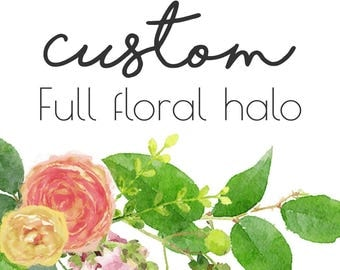 Custom Full Flower Halo or Headband | Made to Match