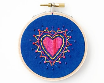 Valentine Embroidery, Hoop Art, Valentine's Day Gift, Heart Embroidery, Gift for Her, Embroidery Hoop Art, Hand Stitched Art, Gift for Wife