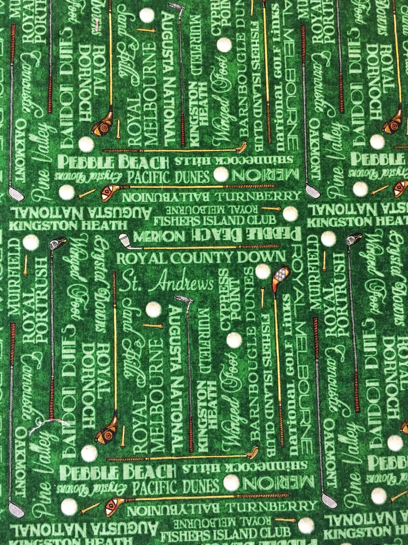 All cotton cloth napkin green golf print lunch box size for 12x15 calculator