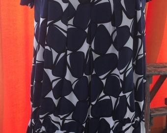 Diane von Furstenberg vintage silk print dress [L10]