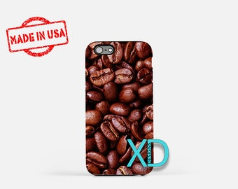 Coffee iPhone Case, Coffee Beans iPhone Case, Coffee iPhone 8 Case, iPhone 6s Case, iPhone 7 Case, Phone Case, iPhone X Case, SE Case New