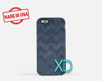 Blue Chevron iPhone Case, Vintage iPhone, Blue Chevron iPhone 8 Case, iPhone 6s Case, iPhone 7 Case, Phone Case, iPhone X Case, SE Case